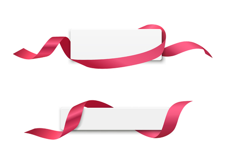 Ribbon label banners collections design