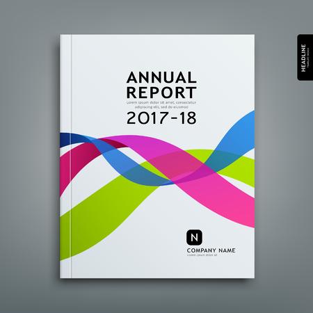 Cover annual report colorful ribbon design