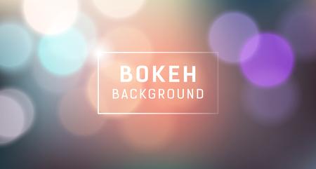 Abstract Bokeh banner design Ilustração