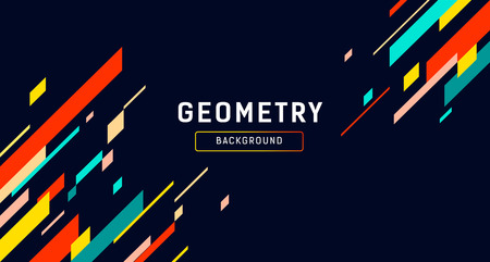 Geometry Abstract colorful banner design on black Imagens - 118825005