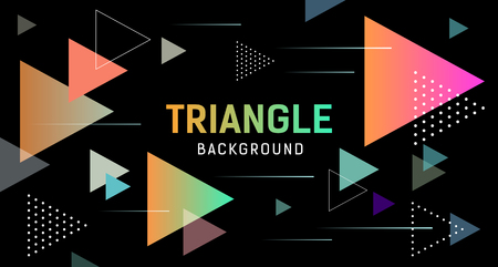 Abstract Colorful Triangle banner design