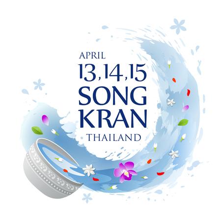Thailand Songkran water splashing summer background