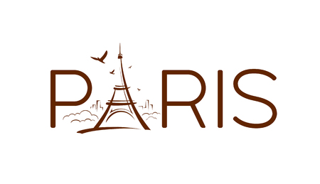 Eiffel tower Paris sketching design banners Imagens - 122006793