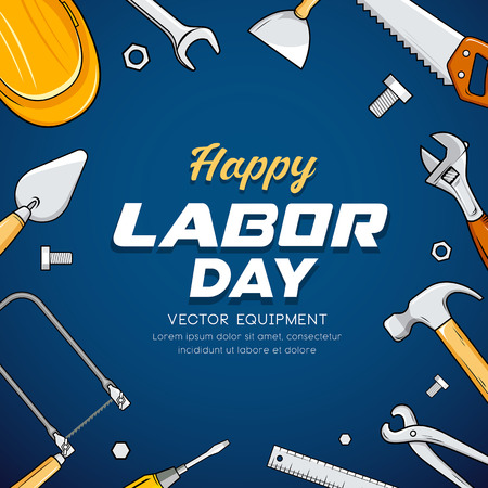 Happy Labor day Construction equipment Imagens - 123371116