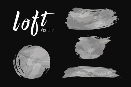Vector Cement loft style brush design on black  collections Imagens - 124173015
