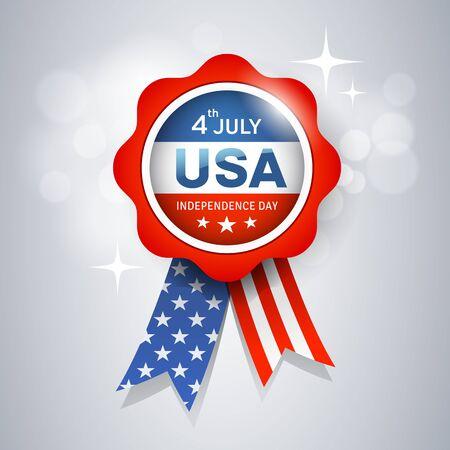 Vector Ribbon award flag of United States, design Imagens - 125457583