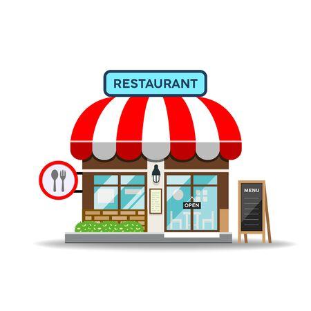 Vector Restaurant design isolated on white background, illustration