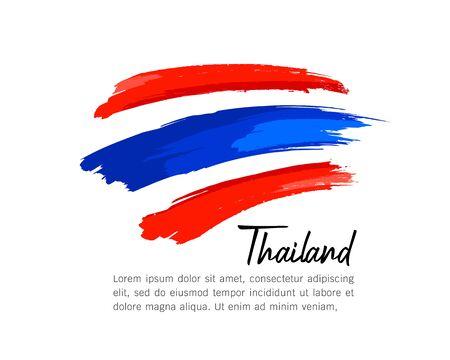 flag of Thailand vector brush stroke design isolated on white background, illustration