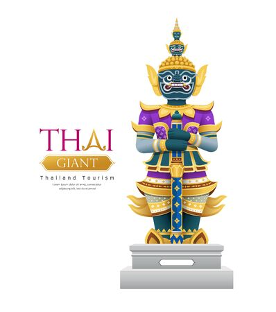 Thai giant design isolated on white background, vector illustration