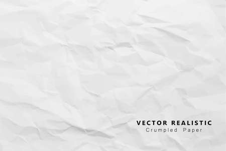 Crumpled white paper abstract design background, Eps 10 vector illustration Vector Illustration