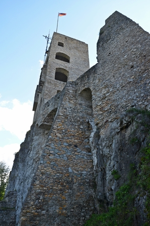 destructed: ruins of Likava castle in central Slovakia