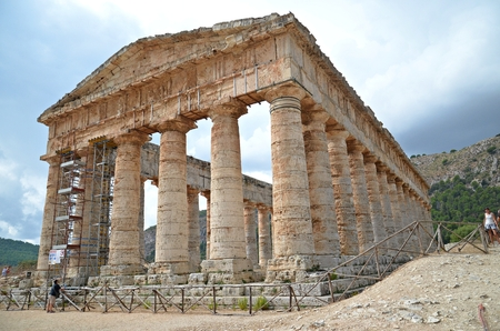 segesta: ancient ruins of greek temple Segesta in Sicily, Italy