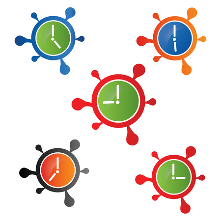 Clock Icon Vector. for: icon, symbol, logo, etc Illustration