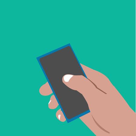 Click handphone. illustrations and vectore