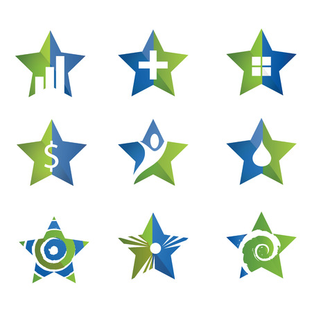 rating: star icon set.  template set Illustration