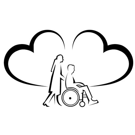 Physical disability insurance. protects from accident Illustration Çizim