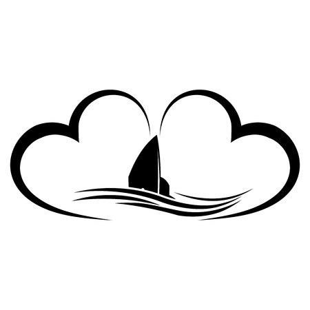 Insurance boat. Accident insurance illustration