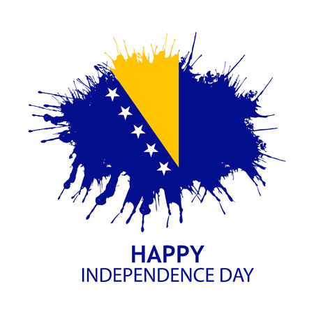 Vector illustration. background Bosnia and Herzegovina independence day of march 1. Designs for posters, backgrounds, cards, banners, stickers, etc
