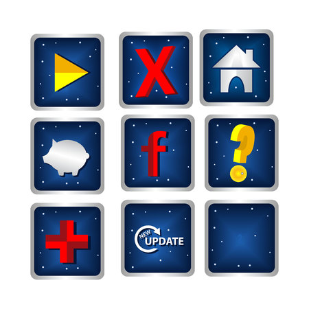 Web icons set nuances of outer space