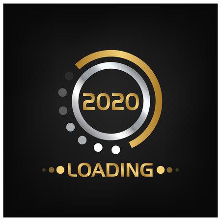 Fond de bonne année 2020 pour vos flyers saisonniers, bannière, autocollant et carte de voeux. 2019 à 2020 Vecteurs