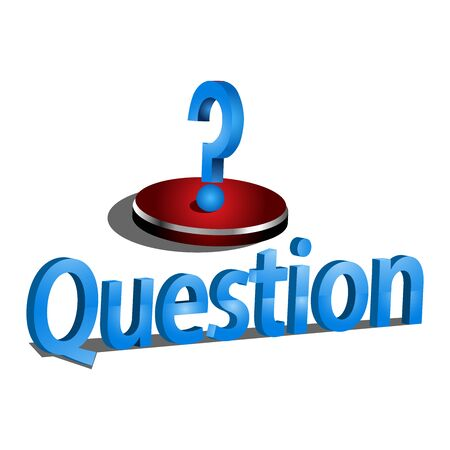 Question text with question mark icon, vector. Vector Illustration on white background