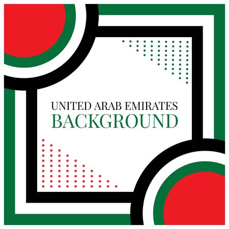 Traditional United Arab Emirates background - Vector