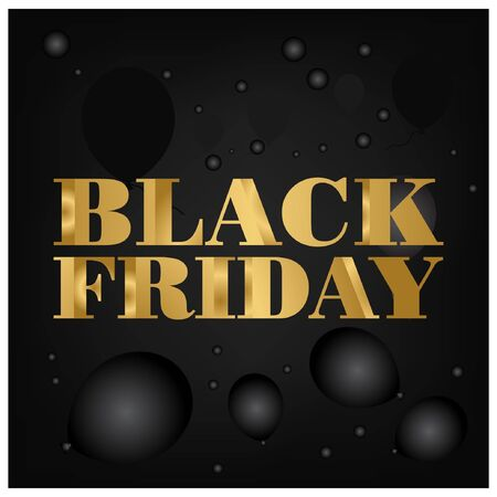 Black friday gold for your Seasonal Flyers, banner, sticker, and Greetings Foto de archivo - 138040459