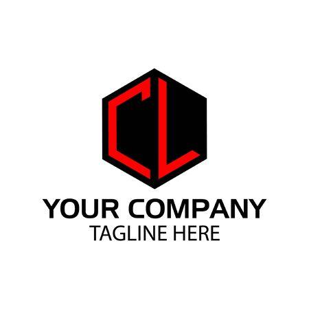 Letter CL stock logo, CL initial., flat design. Vector Illustration on white background