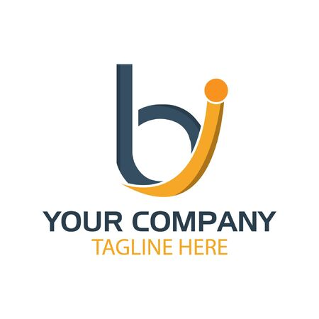 BI logo template, BI letter, flat design. vector Foto de archivo - 138040513