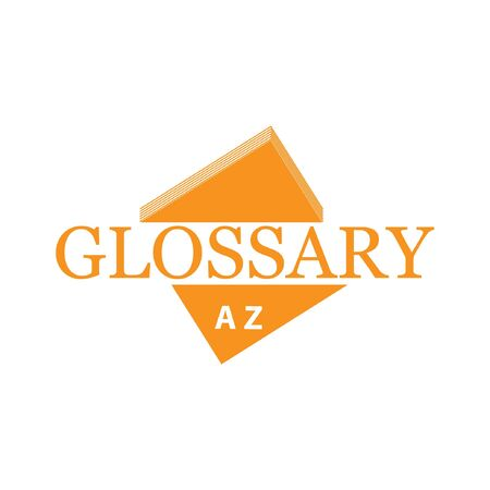 Glossary with book. Flat design. Vector Illustration on white background