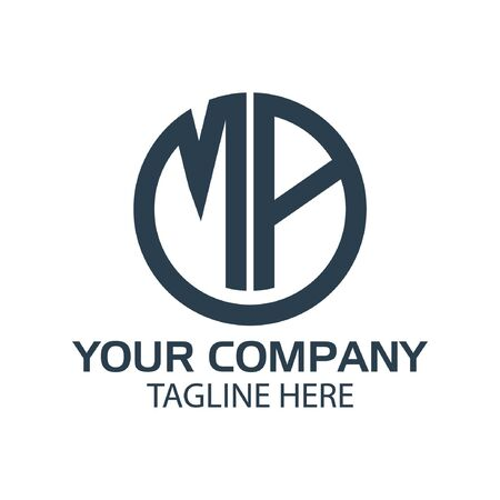 Letter MA stock logo, MA initial., flat design. technology logo Logo