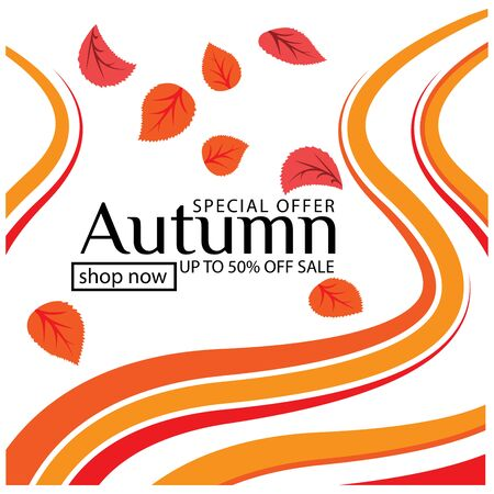 Vector Illustration Autumn Sale Background Foto de archivo - 138255924