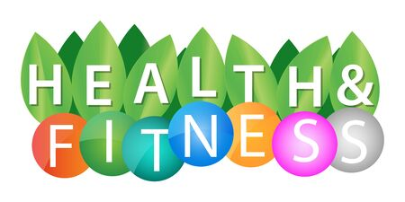 Health And Fitness background colorful