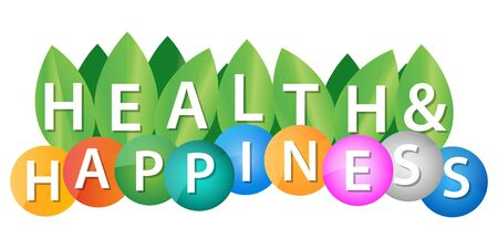 Health And Happiness background colorful Illustration