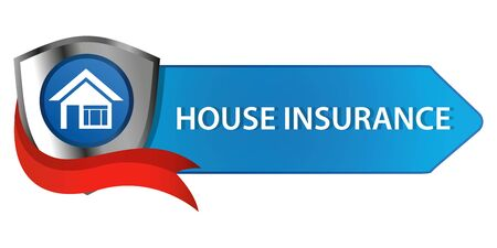 House Insurance Button Ilustracja