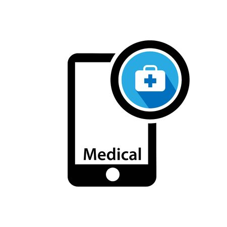 Smart phone and Medical icon