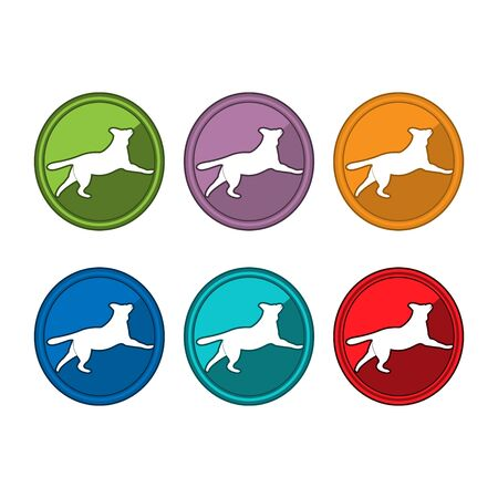 Dog icon set, Colorful dogs