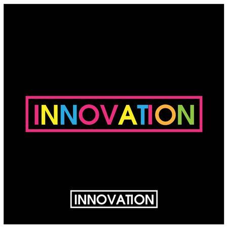 Colourful vector letters icon. word innovation vectore Foto de archivo - 138040655