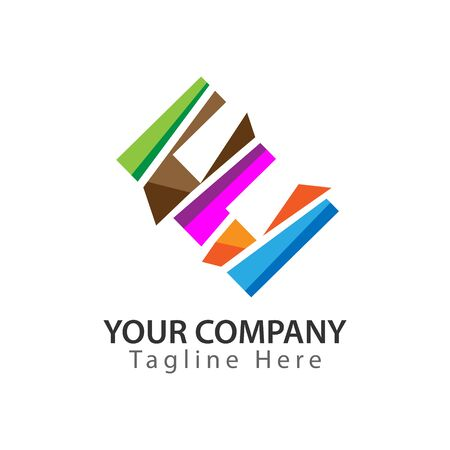 Creative Letter E logo Design. Colorful logos have a cheerful, happy, and active impression.