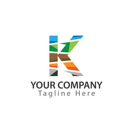 Creative Letter K logo Design. Colorful logos have a cheerful, happy, and active impression 일러스트