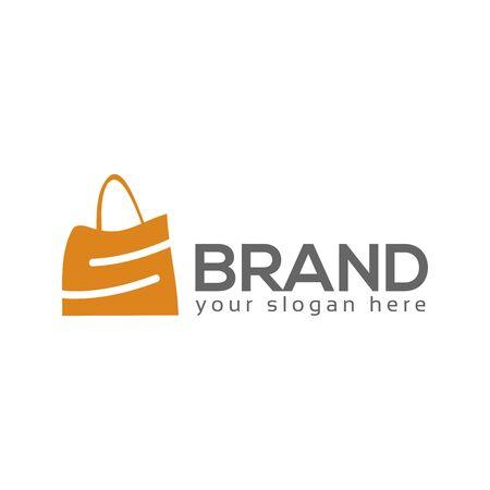 S shopping logo vector. Flat logo design. Illusztráció