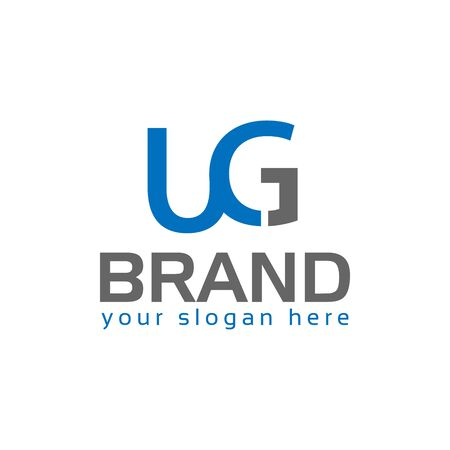 Letter U and G, Logo Design Element Ilustracja