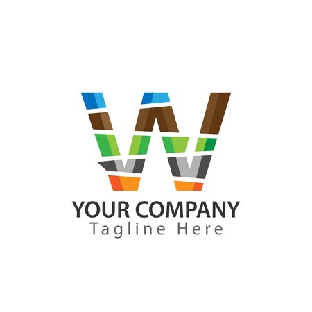 Creative Letter W logo Design. Colorful logos have a cheerful, happy, and active impression