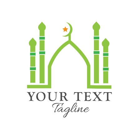 Abstract mosque vector logo