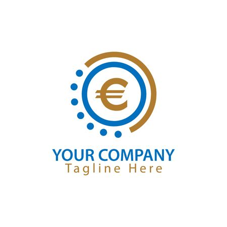 Euro sign in circle, Finance Logo Vector Иллюстрация
