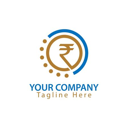 Rupee sign in circle, Finance Logo Vector