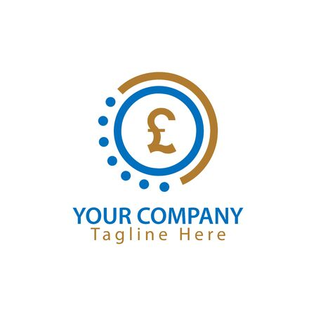 Pound Sterling sign in circle, Finance Logo Vector