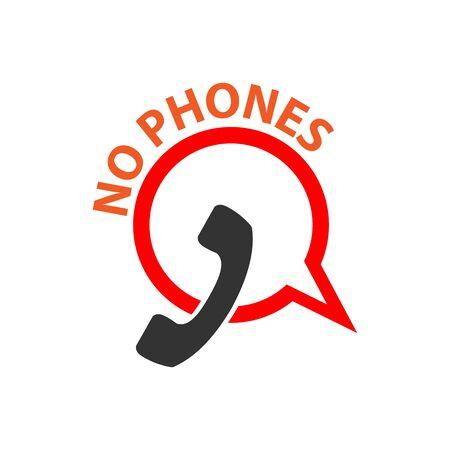 No phone vector icon on white  イラスト・ベクター素材