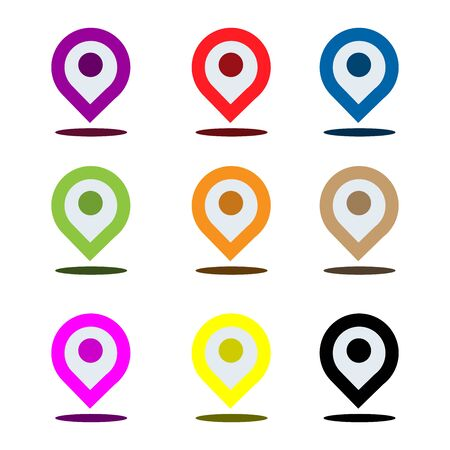 Placeholder icon set. Colorful placeholder.