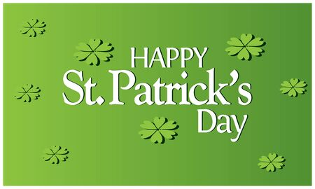 Happy Saint Patricks Day background. vector illustration.